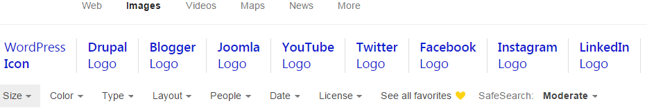 Bing Related Search Query Example