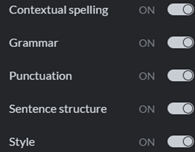 Grammarly | Parial List of Features