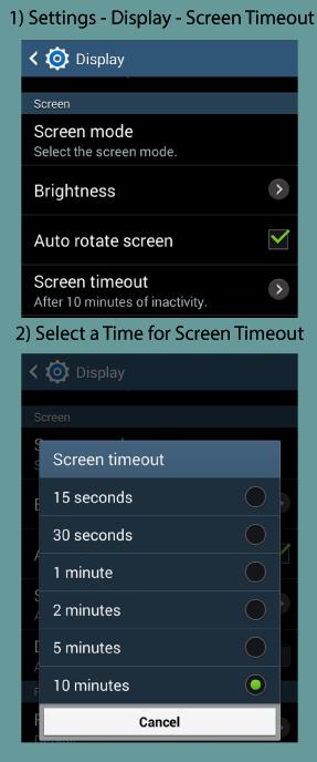Samsung Screen Timeout Setting Image