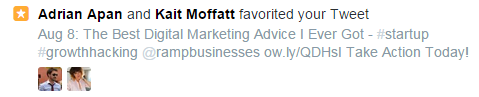 Example of a Faved Tweet Notification