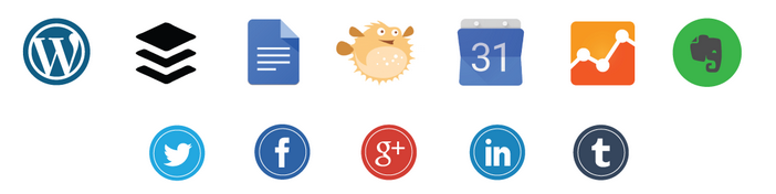 Icons of CoSchedule's Integrations