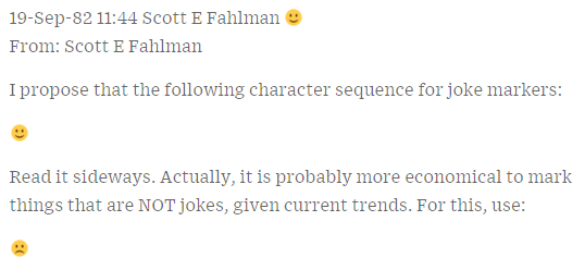 Scotf Fahlman's Emoticon Post