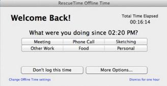 RescueTime offline feature
